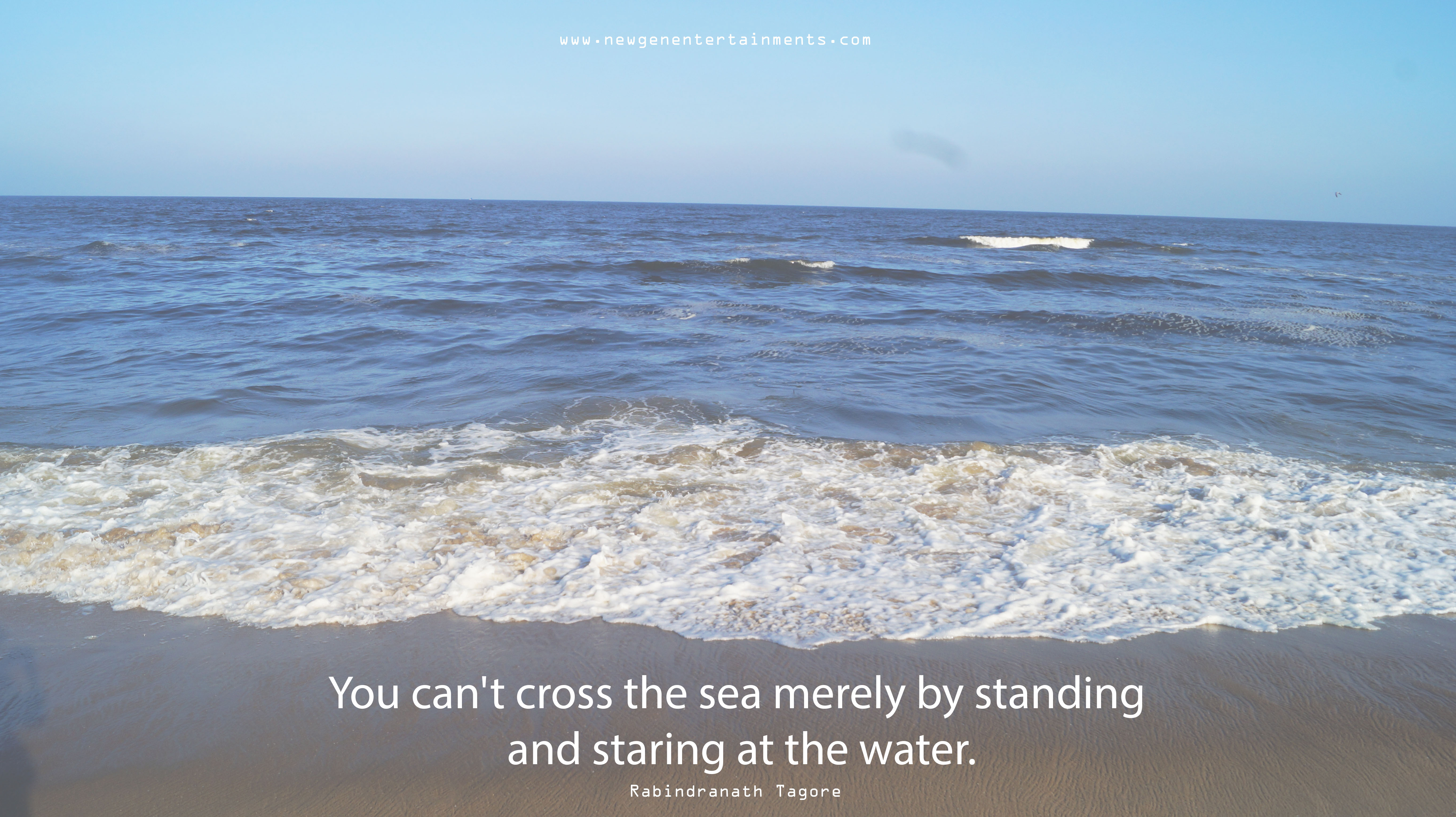 You can't cross the sea merely by standing and staring at the water