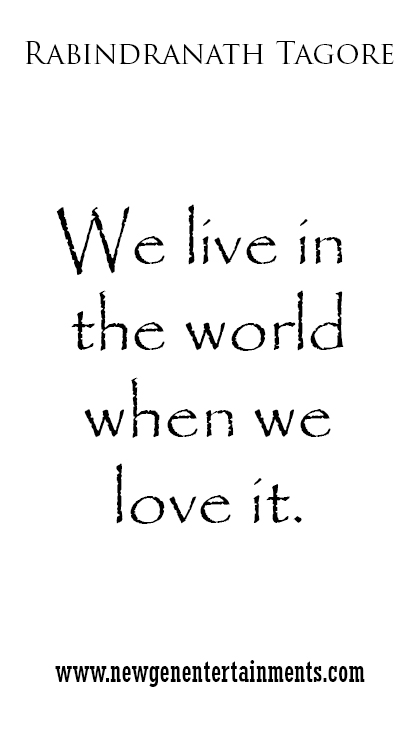 we live in the world when we love it 2