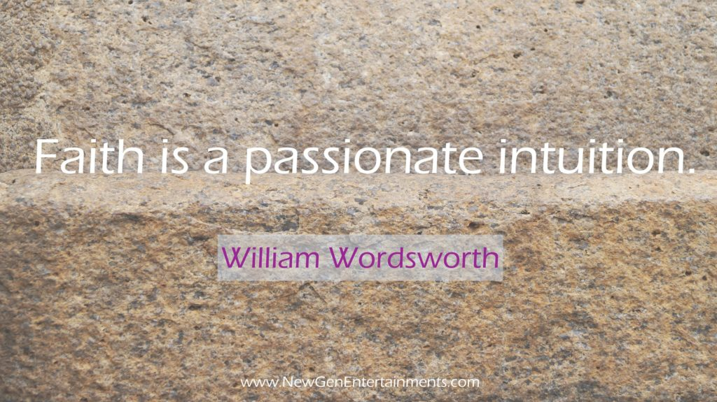 Faith is a passionate intuition