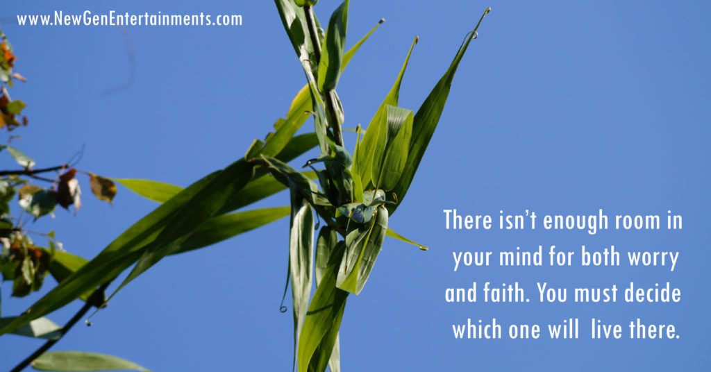 There isn't enough room in your mind for both worry and faith