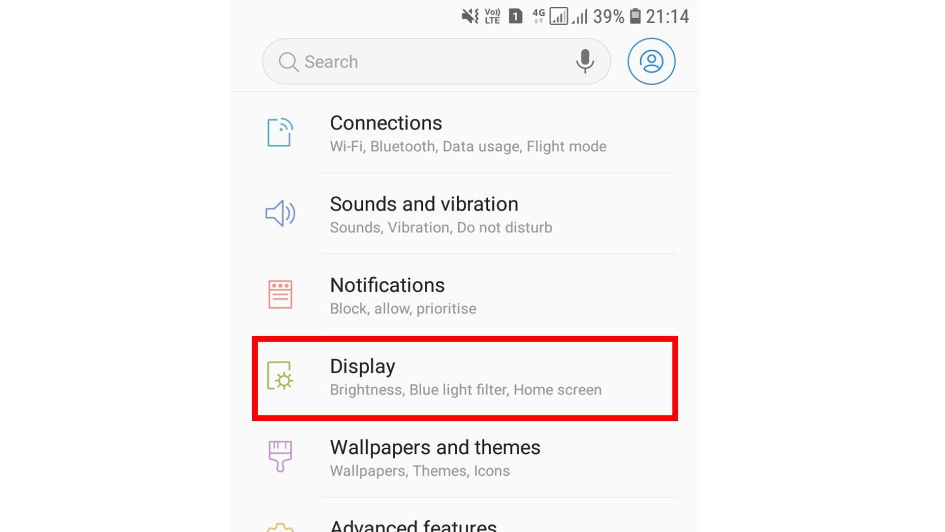 Blue light Filter screenshot 1