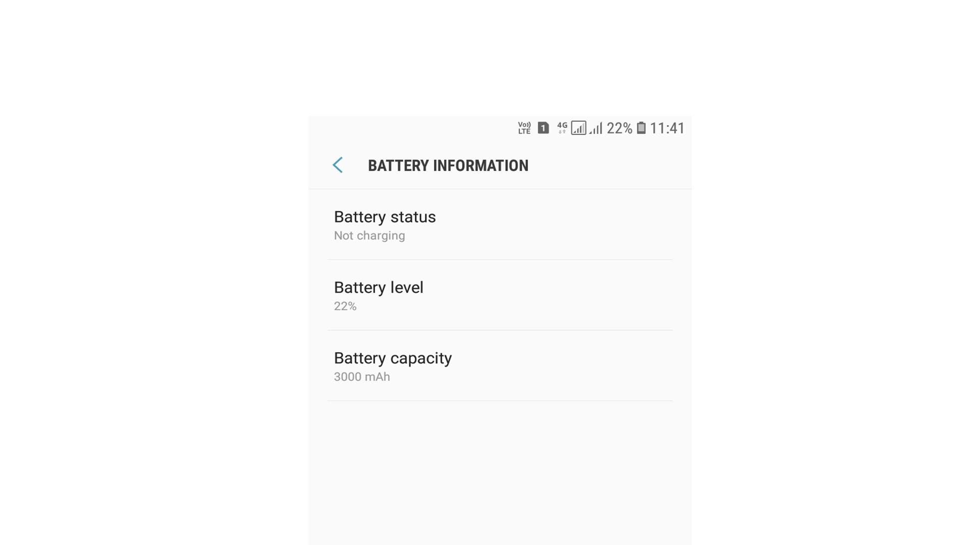 battery capacity